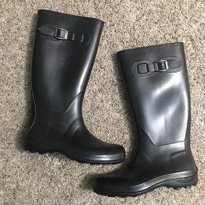 Kamik Black Rain Boots Size 8
